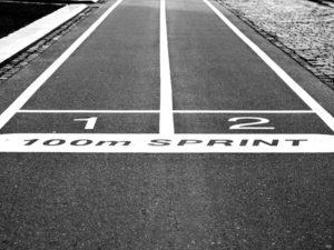sprint race start line