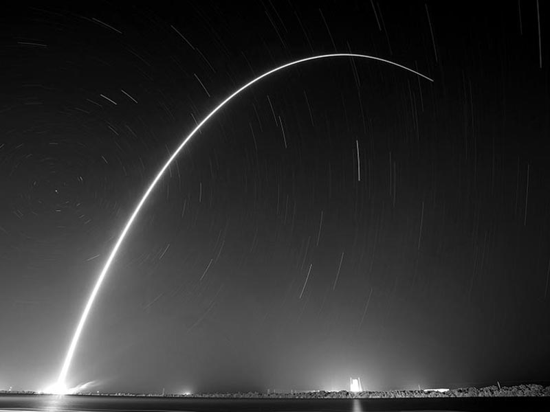 rocket launch slow motion