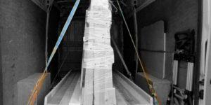 ratchet straps securing a pallet load