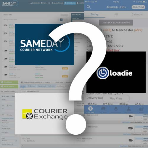 which courier work websites to choose from?