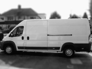 large courier delivery van