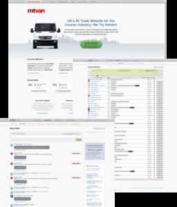screenshots of MTvan website