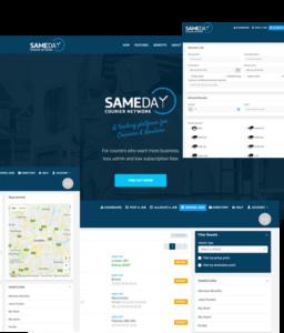 sameday courier network screenshots