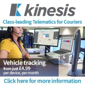 Kinesis Telematics for Couriers Advertisement
