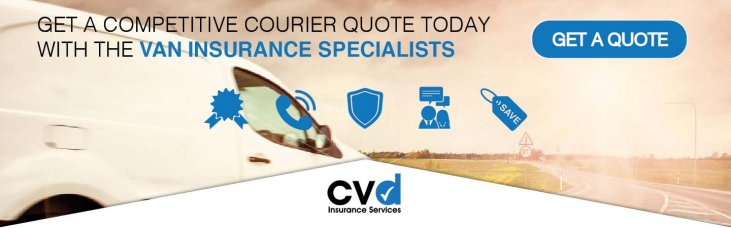 CVD Commercial Vehicle Banner advertising Insurance for Couriers