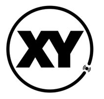 XY Locate official Logo in black on white