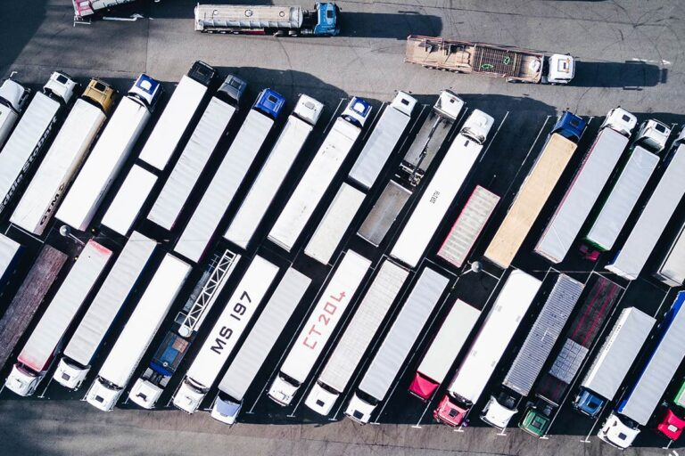 HGV Lorry Park UK Drivers Shortage