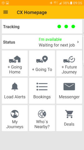 Courier Exchange App Homepage