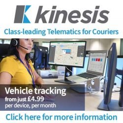 Kinesis Telematics for Couriers Ad block